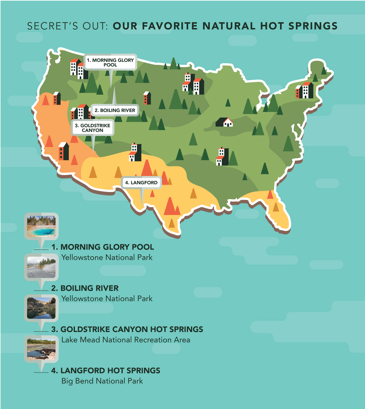 Map Of Natural Springs In Texas Secret's Out: Our Favorite Natural Hot Springs (Map Included